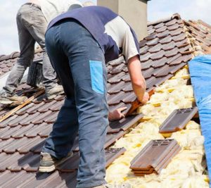 Men working on Roof Repair Service